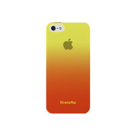 XtremeMac MicroShield Fade - Case for cell phone - plastic - yellow, tangerine - for Apple iPod touch (5G)