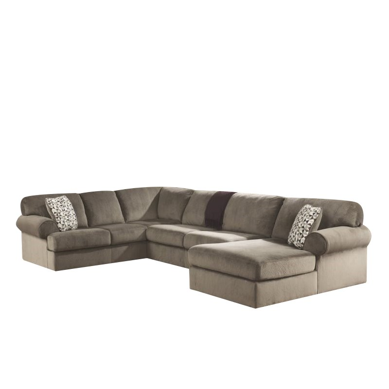Ashley Jessa Place 3 Piece Fabric Left Facing Sectional in Dune  sc 1 st  Walmart : jessa place sectional dimensions - Sectionals, Sofas & Couches