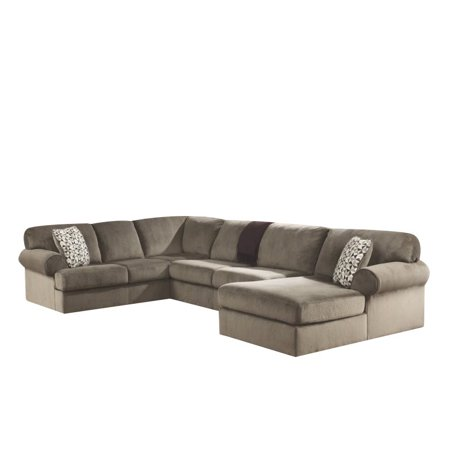 Brilliant Ashley Jessa Place 3 Piece Fabric Left Facing Sectional In Dune Gmtry Best Dining Table And Chair Ideas Images Gmtryco