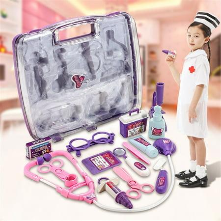 Kids Children Pretending Doctor's Medical Playing Set Case Education Kit Boys Girls Toy Gift - image 10 of 11
