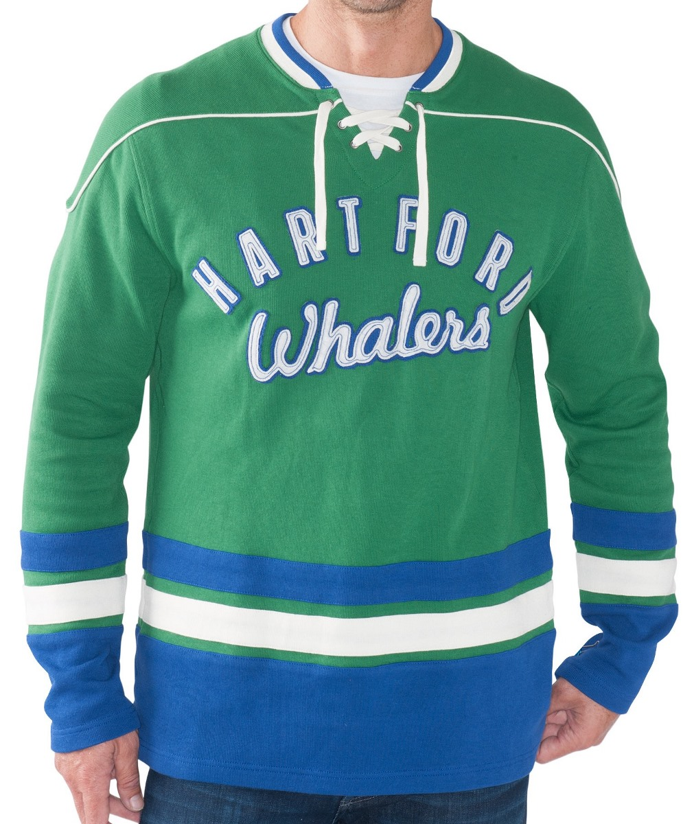 "Hartford Whalers NHL Men's G-III ""Defenseman"" Knit Rib Crew Skate Lace Shirt by G-III Sports"