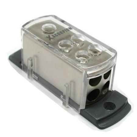 4 8 Gauge Power Platinum Distribution Block Car Audio Wiring 1 to 4  Amp