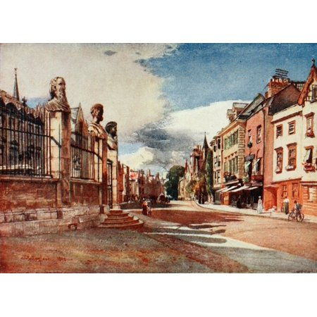 Oxford 1922 Broad Street looking west Stretched Canvas - John Fulleylove (18 x 24)