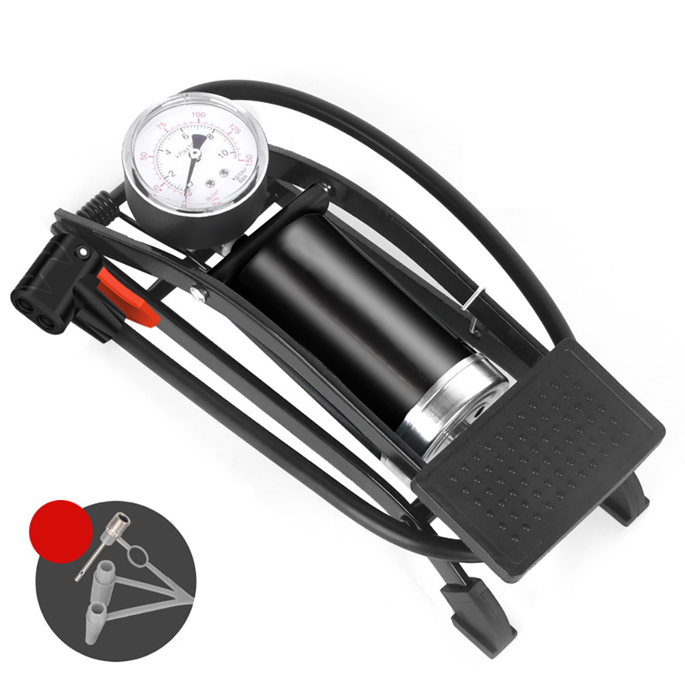 Double Cylinder Foot Air Precision Pressure Gauge High Pressure Pedal Inflator