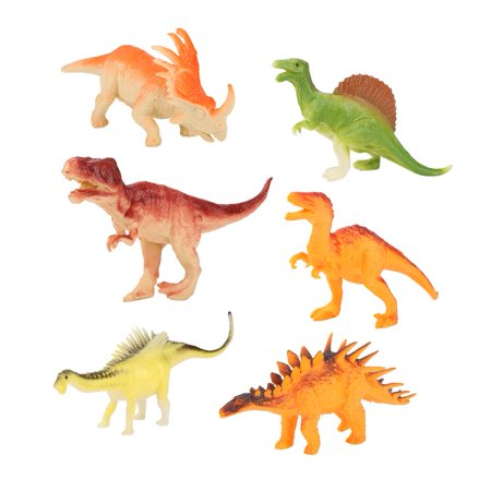 Qiilu 6Pcs Children Dinosaurs Squeeze Toy Soft Plastic Animals Model for Kids Educational Gift , Kids Toy,Dinosaurs Toy - image 3 of 8