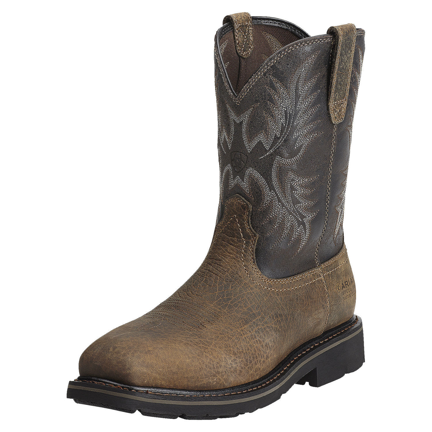 """Ariat 10012948 Sierra Steel Toe 10"""" Pull On Work Boot Puncture Resistant EH Rated by"""