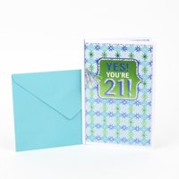 Hallmark 21st Birthday Greeting Card (Yes You're 21 Foil)