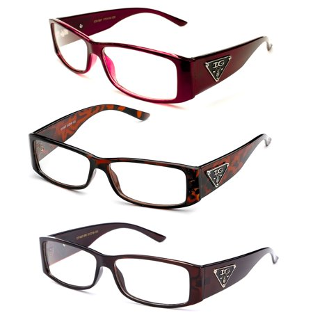 Thick Clear Frames Fashion Glasses for Men and (Red Tortoise Shell Glasses)