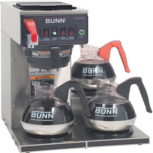 BUNN CWTF35-3 3L, 12-Cup Automatic Commercial Coffee Brewer, 3 Warmers, 12950.0252