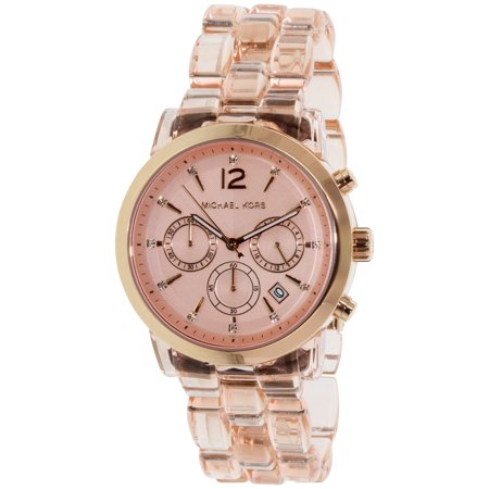 Michael Kors Women's Audrina MK6203 Rose Gold Plastic Quartz Fashion Watch