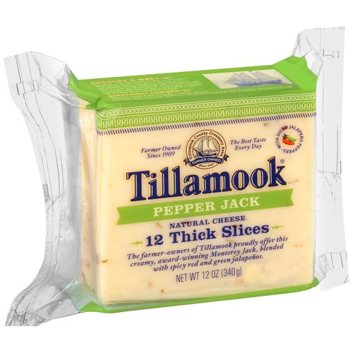 Tillamook Sliced Pepper Jack Cheese, 12 oz