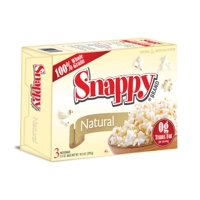 12/3 Pack Snappy Natural Microwave Popcorn