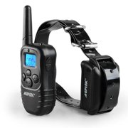 AGPtek 300 Yard Rechargeable Collar waterproof LCD 100 Level Shock Vibra Remote Pet Dog Training Collar