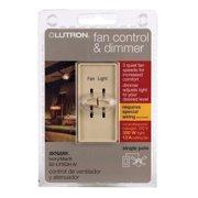 Lutron  Skylark  Single pole  Slide  Fan Control  Ivory  1 pk