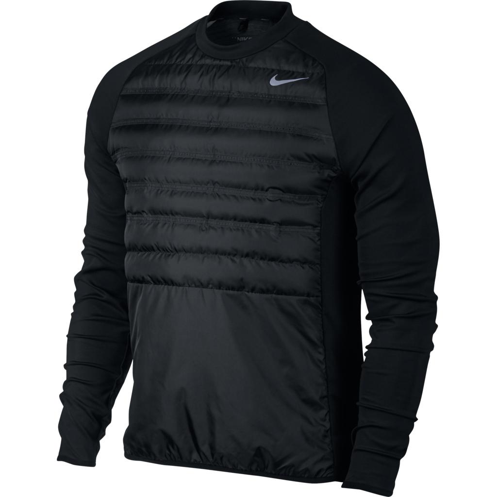 Nike AeroLoft HyperAdapt Men's Golf Crew Shirt Top, Black, Medium