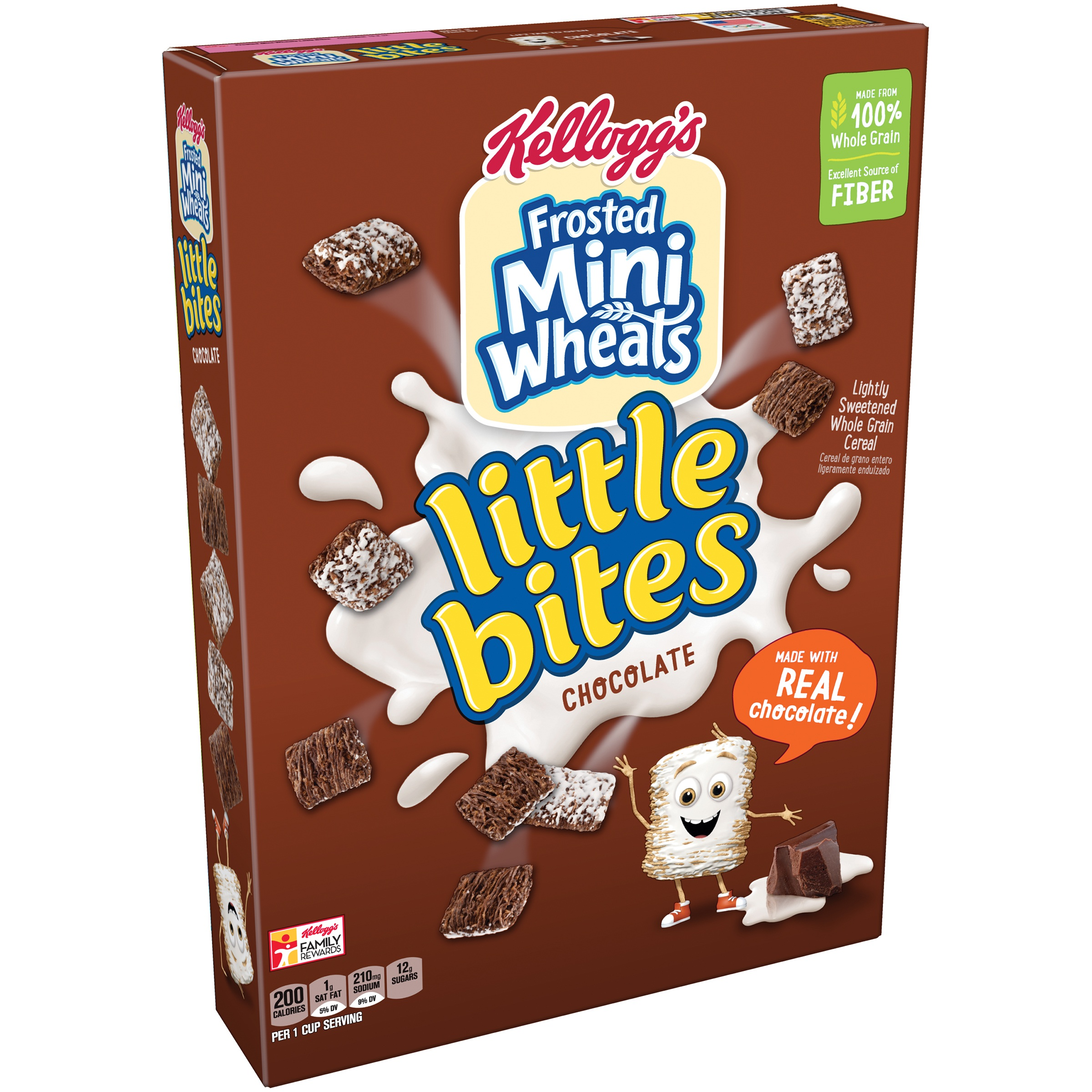 Kellogg's Frosted Mini Wheats Little Bites Chocolate Cereal 15.2 ...
