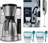 Capresso MT900 10-Cup Rapid Brew Coffee Maker w/ Thermal Carafe Bundle