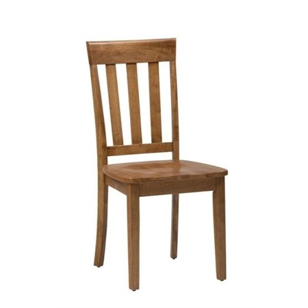 Maple Round Chair (Bowery Hill Wood Slat Back Dining Chair in Honey (Set of 2) )