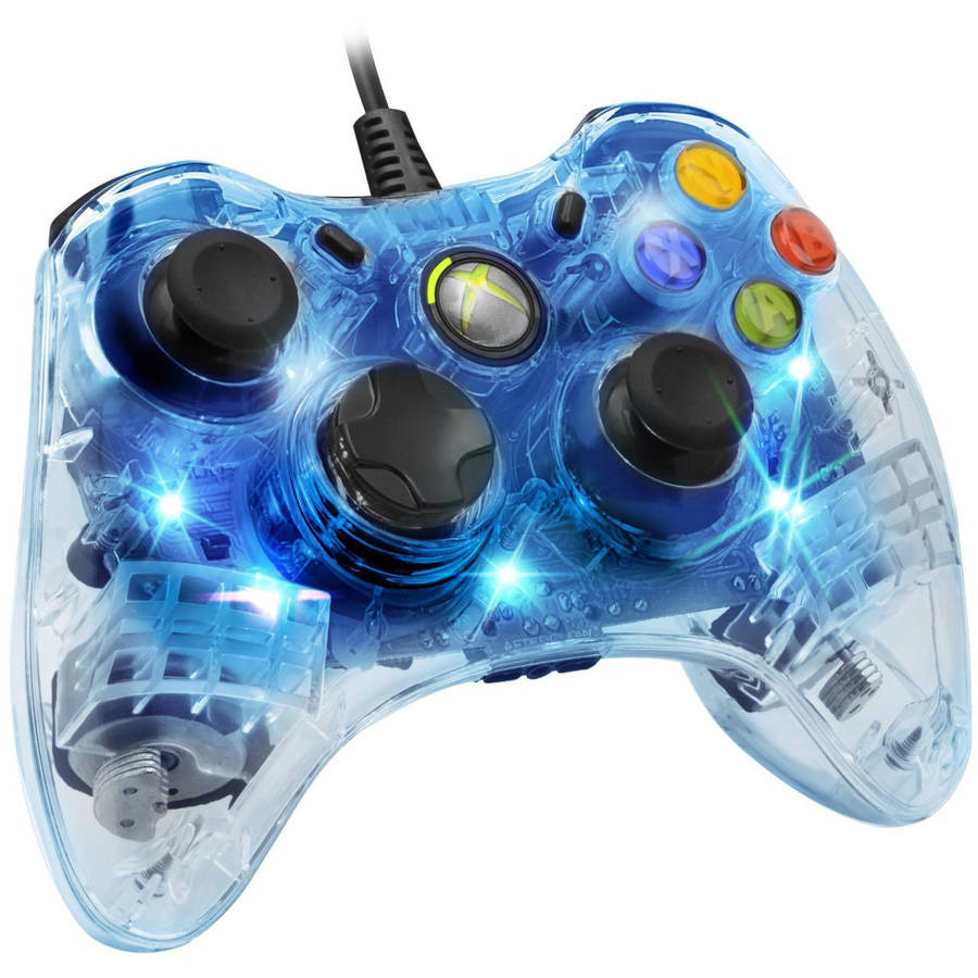 PDP Afterglow Wired Controller for Xbox 360, Blue Light