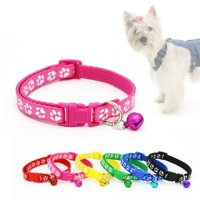 Dog Collar Personalized Soft Comfortable Adjustable Collars with Bells for Small Medium Large Dogs Outdoor Training Walking Running
