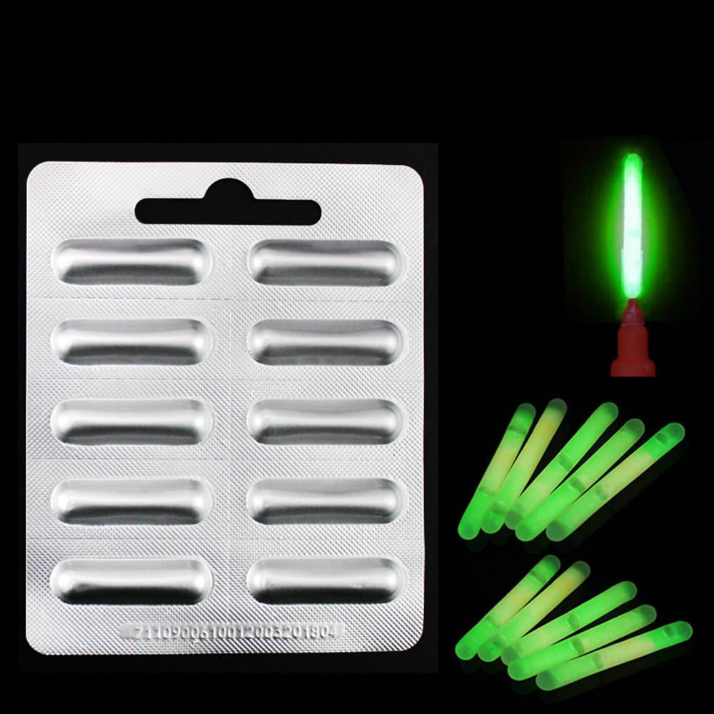 New Useful Clip on Fishing Float Lightstick Fluorescent Light Dark Glow Stick