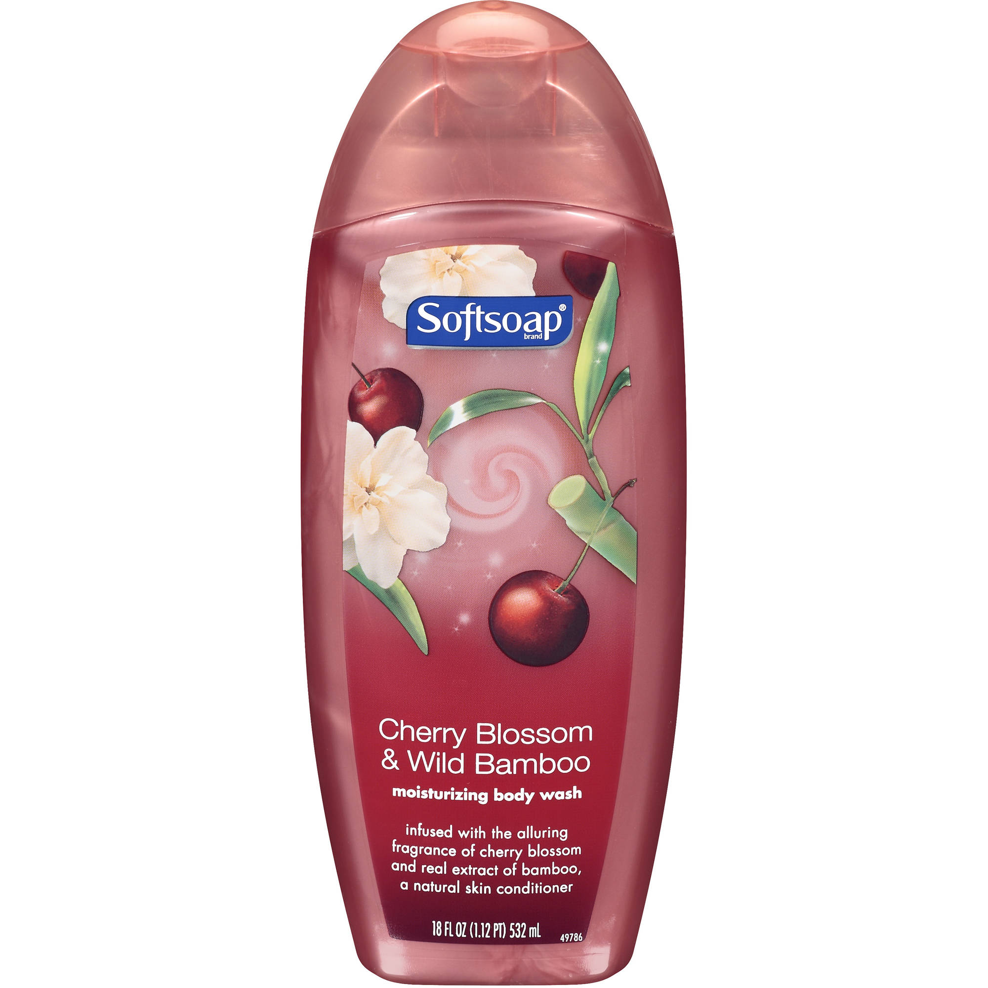 Softsoap Cherry Blossom & Wild Bamboo Moisturizing Body Wash, 18 oz