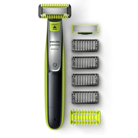 Philips Norelco OneBlade Face + Body hybrid electric trimmer and shaver, (Best Philips Beard Trimmer)