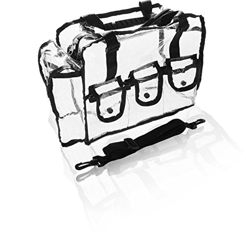 Cosmetic Clear Makeup Bag Organizer Case With Shoulder Strap Snap