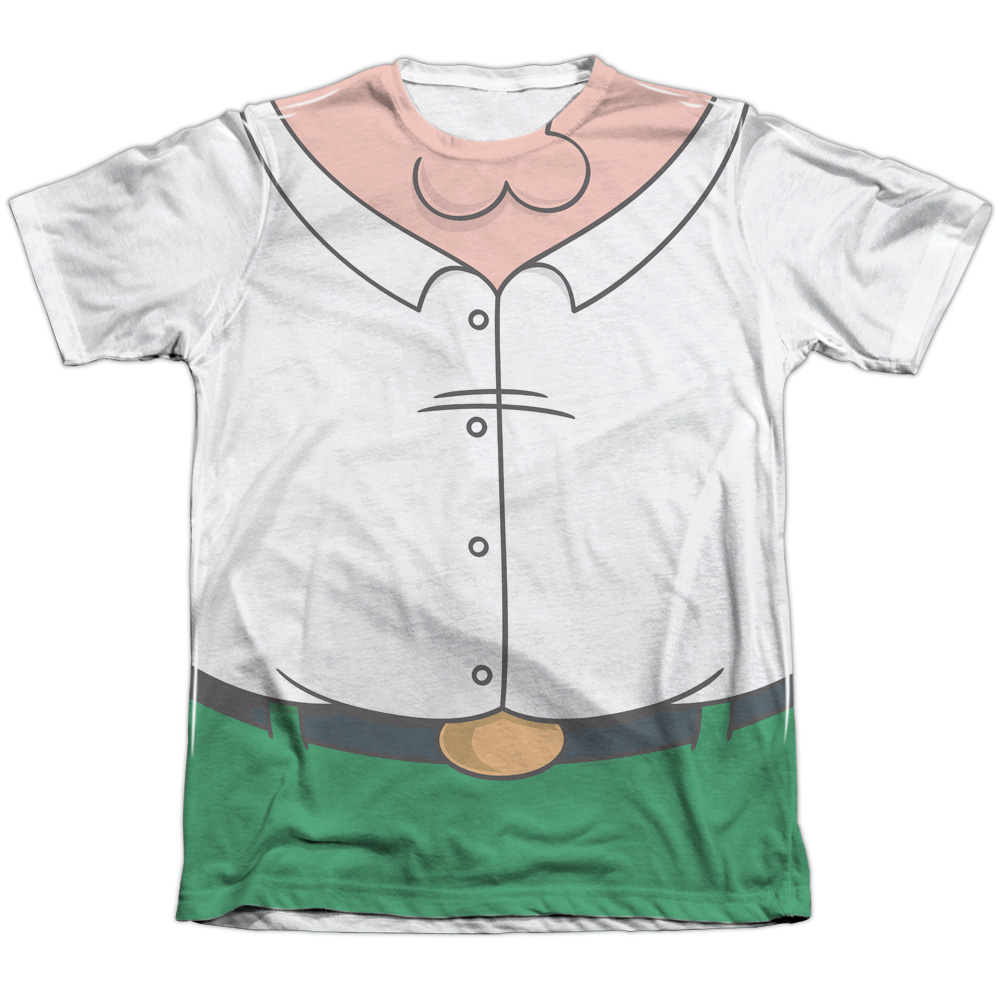 The Family Guy Peter Costume (Front Back Print) Mens Sublimation Shirt