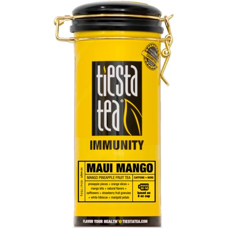 Tiesta Tea Immunity, Maui Mango, Loose Leaf Herbal Tea Blend, Caffeine Free, 6 Ounce Tin