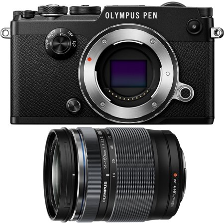 Olympus PEN-F 20MP Mirrorless Micro Four Thirds Digital Camera w/ 14-150mm Lens Bundle