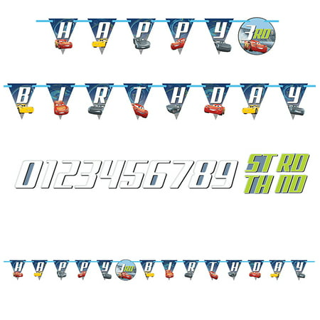 Disney Cars 3 Jointed Letter - Card Party Supplies