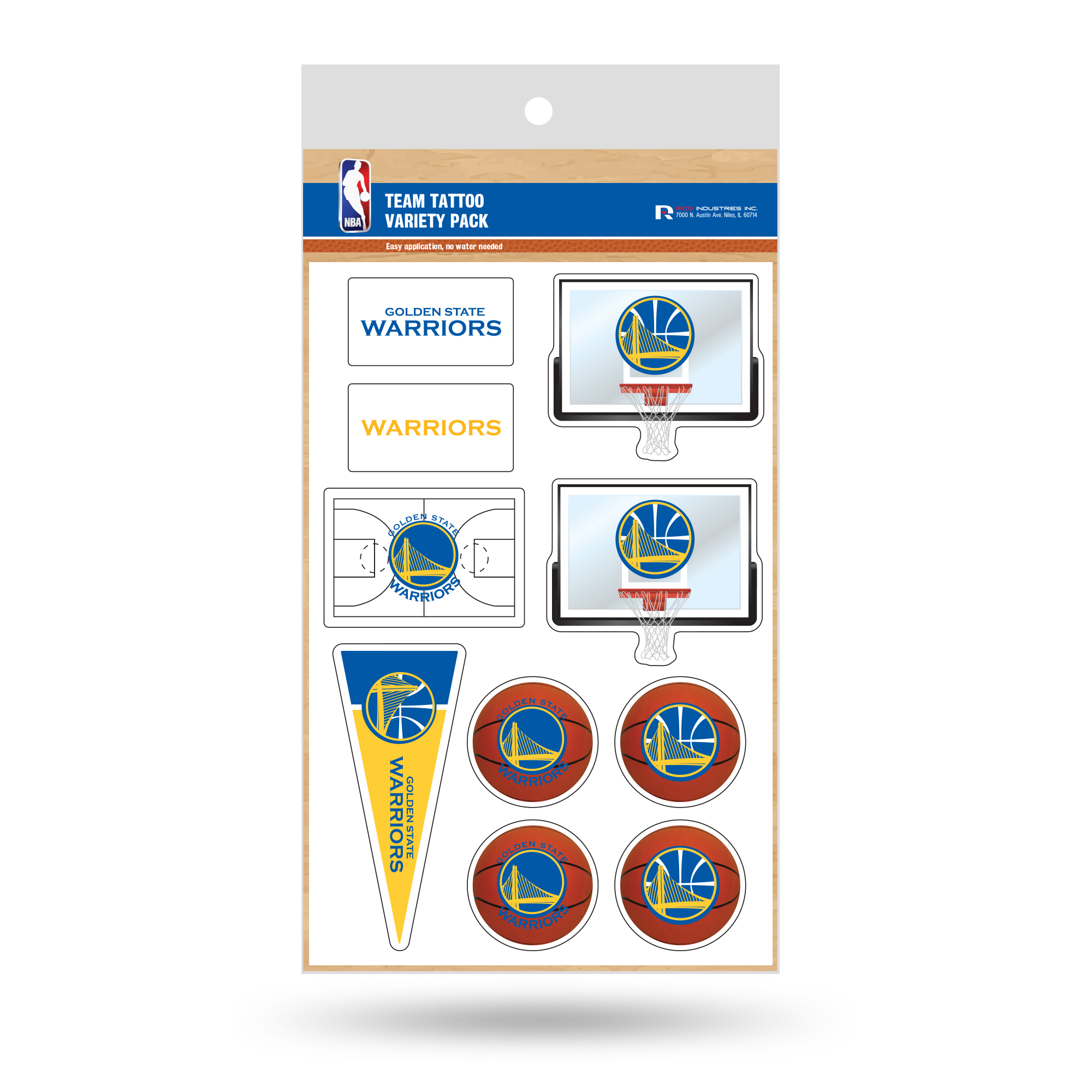 Golden State Warriors Tattoo Variety Pack