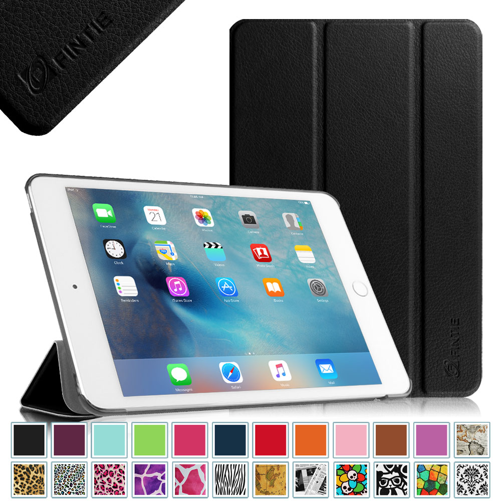 Fintie iPad mini 4 SlimShell Case - Lightweight Stand Cover with Auto Sleep/Wake, Black