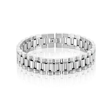Dial President Bracelet (Polished Stainless Steel President Bracelet (16mm) - 8.5)