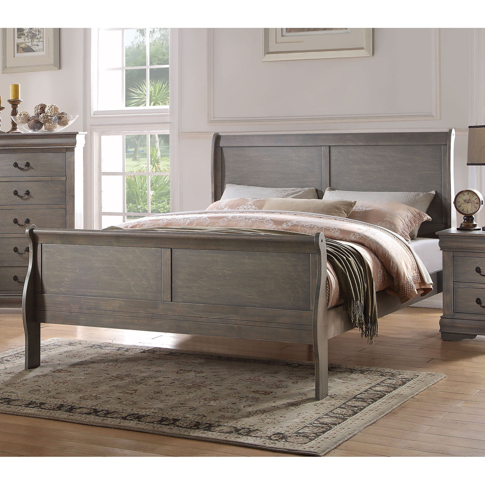 Acme Furniture Louis Philippe Sleigh Bed by Acme Furniture