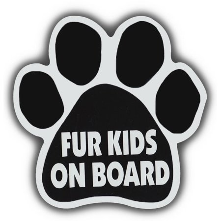 Dog Paw Shaped Magnets: Fur Kids On Board | Cars, Trucks, Refrigerators (Dog Head Magnet)