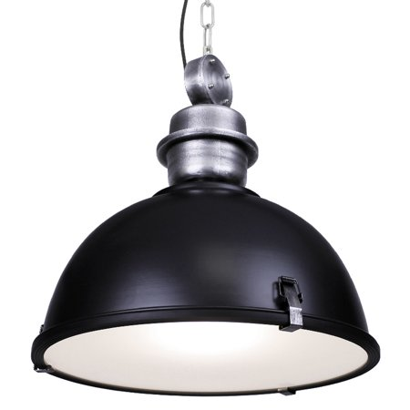 Large Industrial Warehouse Black Pendant Light - Warehouse Barn Hanging Pendant Light - Title 24 Compliant ()