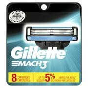 Gillette Mach3 Men's Razor Blades, 8 Blade Refills