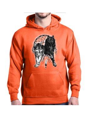 c38e1d7e52bf2 Product Image Shop4Ever Men s Wolves Hooded Sweatshirt Hoodie