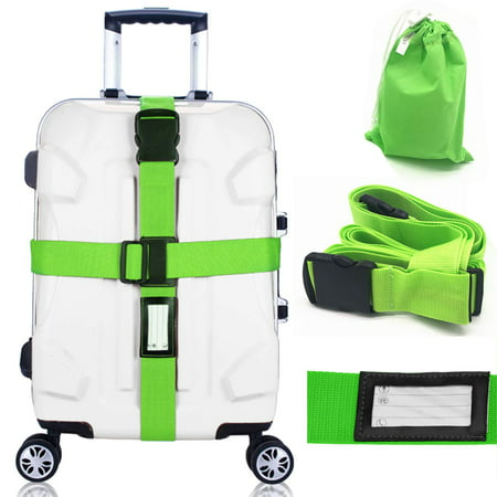 Epicgadget Adjustable Luggage Strap Suitcase Baggage Packing Belt Travel Accessories Long Cross Strap