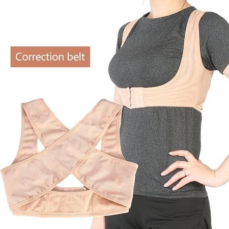 Ejoyous 4Size Elastic Posture Corrector Brace Shoulder Support Adjustable Back Correction Belt, Back Correction Belt, Posture Correction Belt