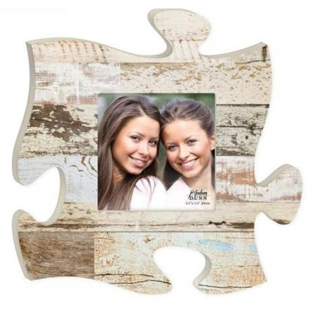 P. Graham Dunn Puzzle Pieces Picture Frame, White Multicolor (Personalized Photo Puzzle)