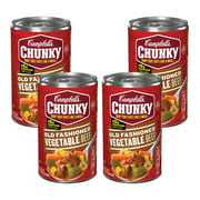 (4 Pack) Campbell's Chunky Old Fashioned Vegetable Beef Soup, 18.8 oz.