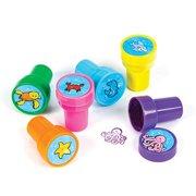 Lot Of 24 Sea Ocean Animal Creature Kids Mini Stampers - 1.5