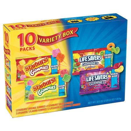 STARBURST & LIFE SAVERS Fruity Gummies Variety Mix, 38.5 Ounce Box](Life Saver Suckers)