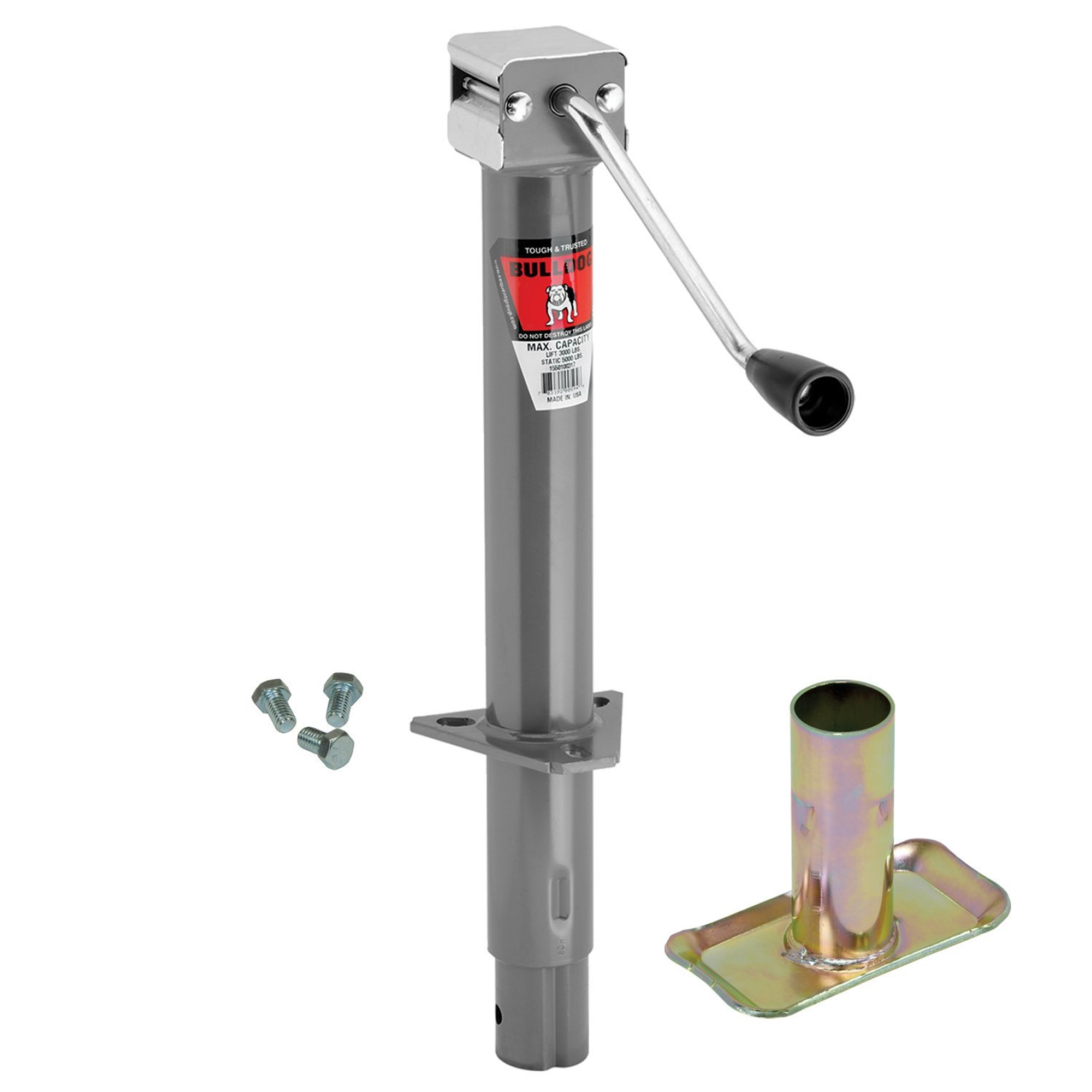 Bulldog Security A-Frame Trailer Jack with Foot and Mount...