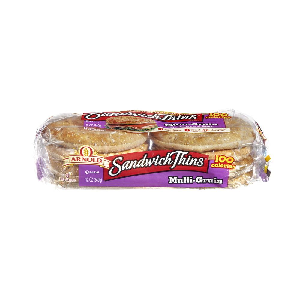 Arnold Sandwich Thins Pre-Sliced Multi-Grain Rolls - 8 PK, 12.0 OZ