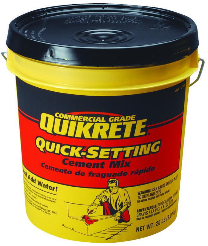 Quikrete 1240-20 Quick Setting Concrete Mix, 20 lb Pail, Gray Powder by Quikrete Co.