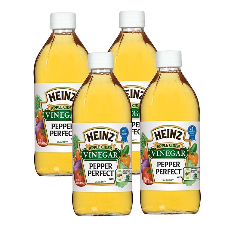 (4 Pack) Heinz Apple Cider Vinegar, 12 - 16 fl oz Bottles